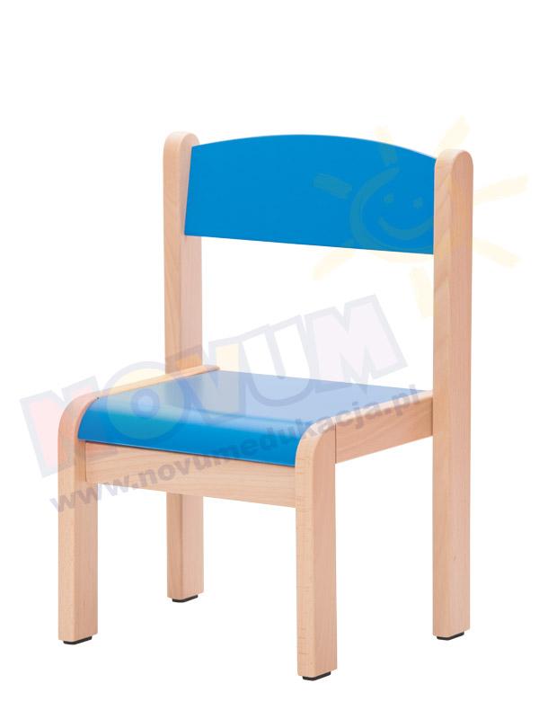 Krzesełko bukowe NOVUM wys. 26 cm  z filcowymi zaślepkami